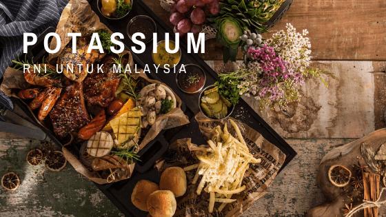 senarai makanan tinggi kalium (potassium)