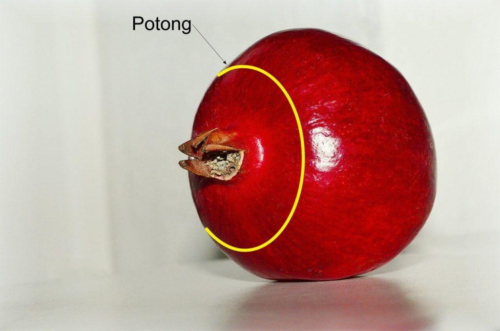 cara makan buah delima