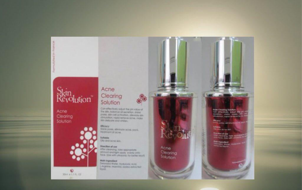 produk skin revolution-acne clearing solution mengandungi racun berjadual